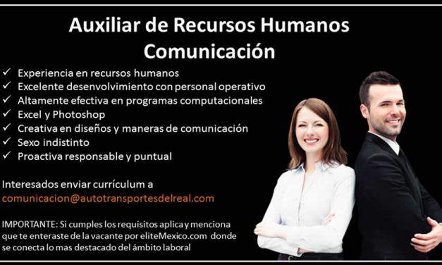AUXILIAR DE RECURSOS HUMANOS-COMUNICACIÓN