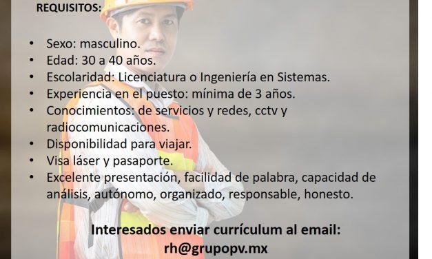 VACANTE Ingeniero de Soportes, Asesoría y Proyectos EN EMPRESA LÍDER