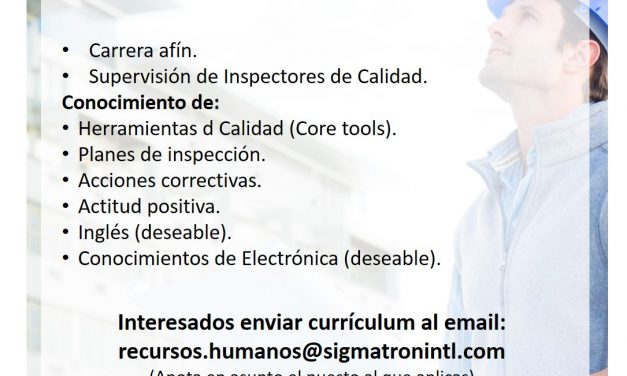 vacante Ingeniero de Calidad en SIGMATRON International