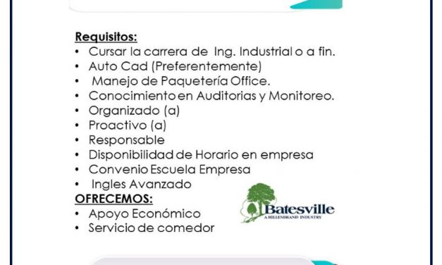 VACANTE PRACTICANTE DE LEAN EN GLOBAL PRODUCTS