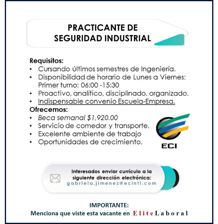 practicante de seguridad industrial