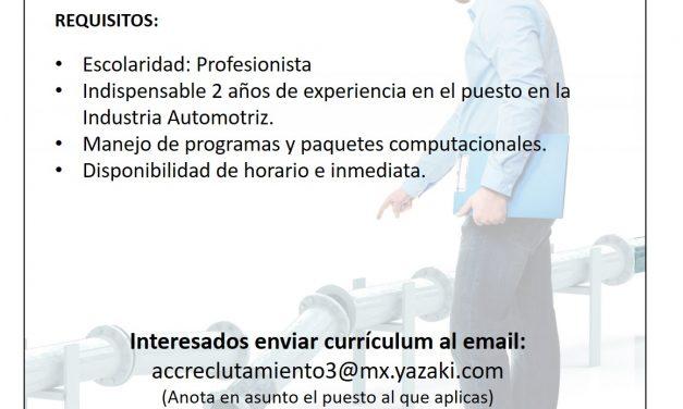 VACANTE SUPERVISOR DE PRODUCCIÓN EN YAZAKI