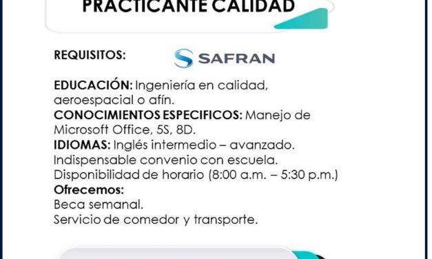 vacante practicante calidad safran engineering services