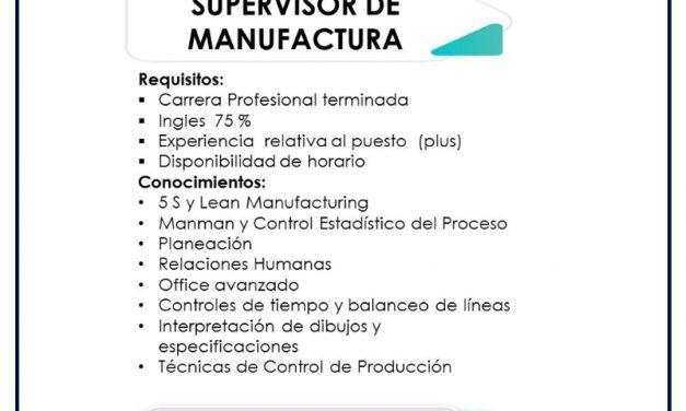 vacante supervisor de manufactura conmed corporation