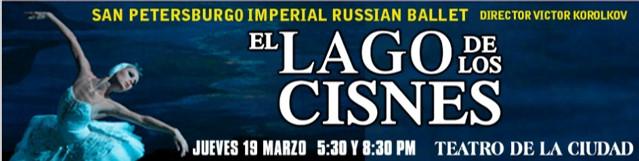 EVENTO OBRA DE TEATRO LAGO DE LOS CISNES / TEATRO DE LA CIUDAD / 19 MZO