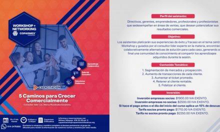 evento Workshop + Networking: 5 Caminos para crecer profesionalmente / centro empresarial / 10 y 11 mzo