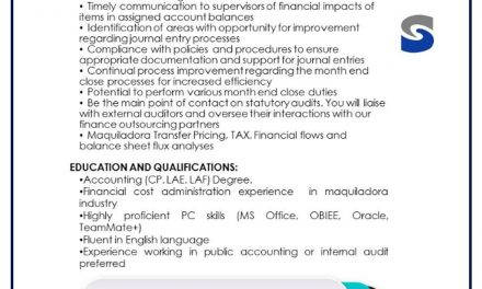 vacante general ledger accountant