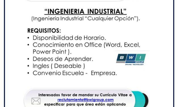 vacante practicante INGENIERÍA industrial