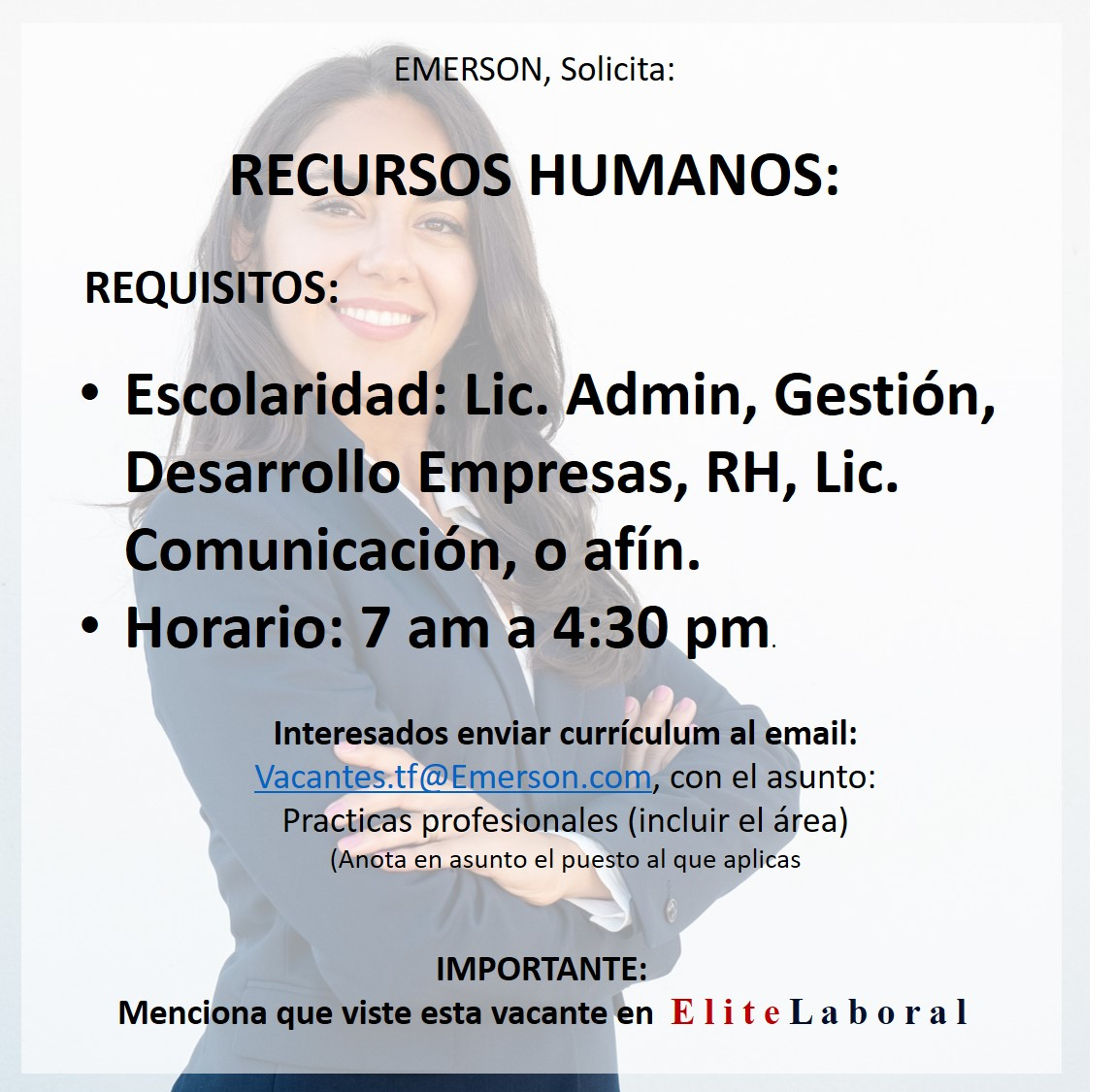 VACANTE RECURSOS HUMANOS