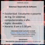 VACANTE Sistemas/ Desarrollo de Software