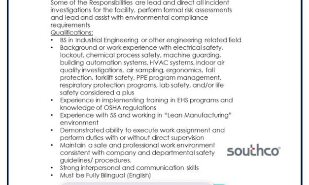 VACANTE EH&S ENGINEER