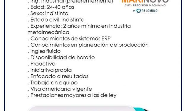 VACANTE PLANEADOR DE PRODUCCIÓN
