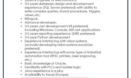 vacante systems engineer