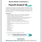 vACANTE PAYROLL ANALYST SR