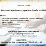 vACANTE PRACTICANTE INGENIERIA/DISEÑO/CALIDAD
