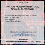 VACANTE PRACTICANTE SISTEMAS/DESARROLLO DE SOFTWARE
