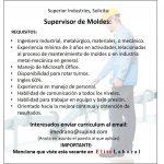 VACANTE SUPERVISOR DE MOLDES