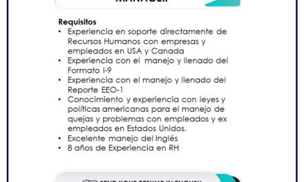 VACANTE HR SERVICES AND PAYROLL MANAGER
