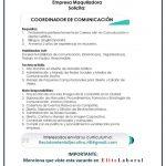 VACANTE COORDINADOR DE COMUNICACION