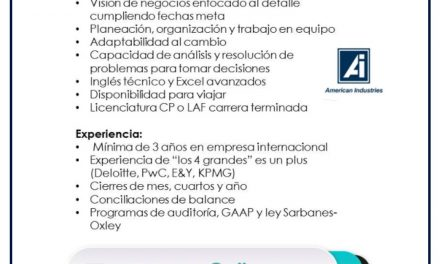 VACANTE SR. GENERAL ACCOUNTANT