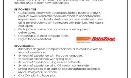 VACANTE SR JAVA DEVELOPER