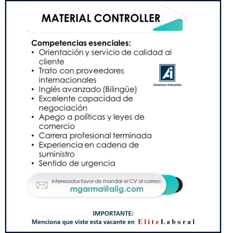 VACANTE MATERIAL CONTROLLER