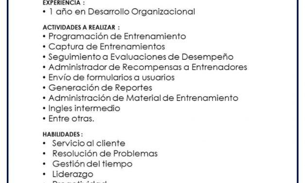 VACANTE ADMINISTRADOR DE SISTEMAS DE COMPETENCIAS