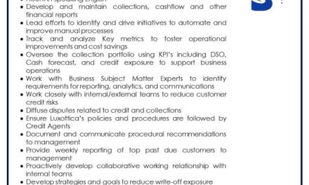 VACANTE CREDIT & COLLECTIONS MANAGER