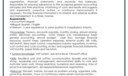 VACANTE FINANCE AND CONTROLLING MANAGER