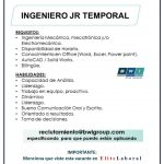 VACANTE INGENIERO JR TEMPORAL