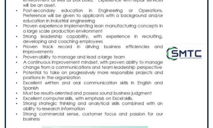 VACANTE MANUFACTURING SUPERINTENDENT