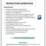 VACANTE PRODUCTION SUPERVISOR