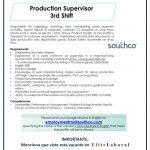 VACANTE PRODUCTION SUPERVISOR 3RD SHIFT
