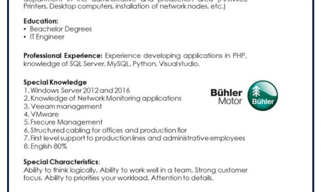 VACANTE ASSISTANT IT
