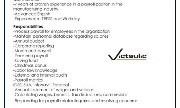 VACANTE PAYROLL SPECIALIST
