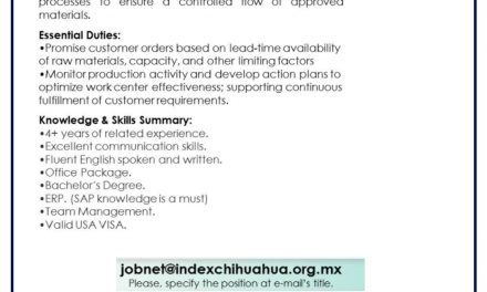 VACANTE PLANNER CUSTOMER SERVICE