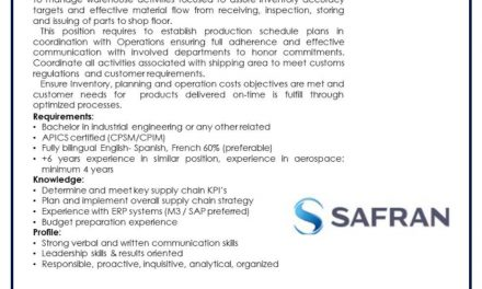 VACANTE SUPPLY CHAIN MANAGER
