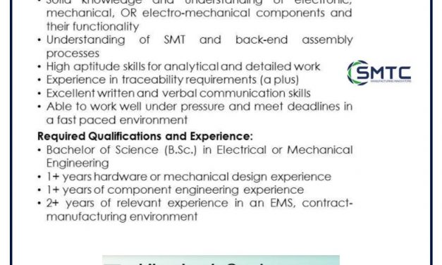 VACANTE TECHNICal sourcing engineer
