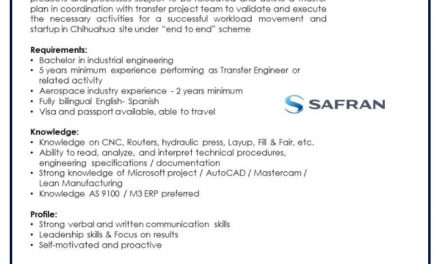 VACANTE TRANSFER ENGINEER