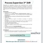 VACANTE PROCESS SUPERVISOR 3 SHIFT