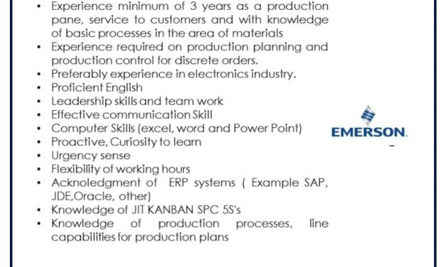 VACANTE PRODUCTION SCHEDULER