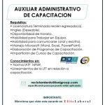 VACANTE AUXILIAR ADMINISTRATIVO DE CAPACITACION