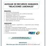 VACANTE AUXILIAR DE RECURSOS HUMANOS