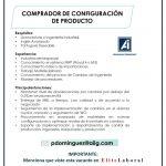 VACANTE COMPRADOR DE CONFIGURACION DE PRODUCTO