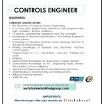 VACANTE CONTROLS ENGINEER