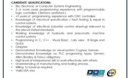 VACANTE CONTROLS ENGINEER