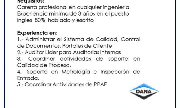 VACANTE COORDINADOR DE CALIDAD