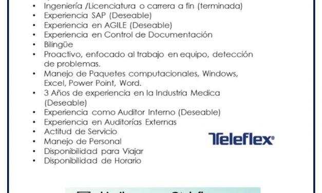 VACANTE COORDINADOR DE DOCUMENTACION Y CONTROL DE REGISTROS