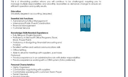 VACANTE OFFICE ADMINISTRATOR