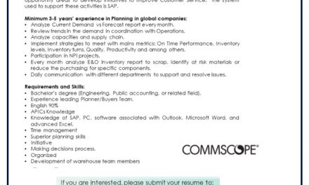 VACANTE PLANNING MANAGER